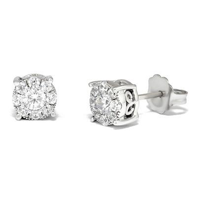 0.50 ct. t.w. Unity Diamond Stud Earrings in 14k White Gold (I, I1)