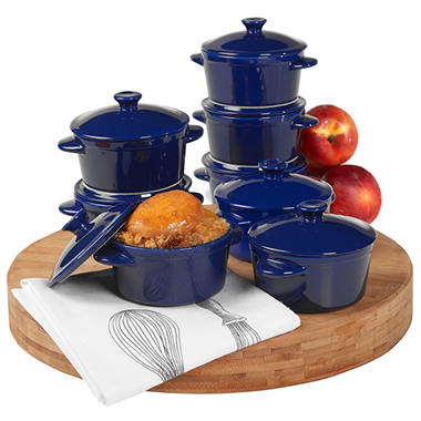 Denmark Tools for Cooks Stoneware Cocottes - 8 pk.