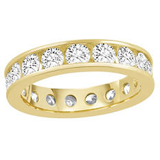 2.00 CT. TW. Round Cut Channel Set Eternity Band - 14K White or Yellow Gold