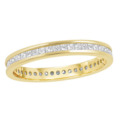 .50 CT. TW Princess Cut Channel Set Eternity Band - 14K White or Yellow Gold