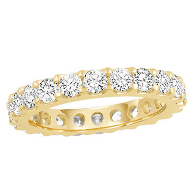 2.00 CT. TW. Round Cut Prong Set Eternity Band - 14K White or Yellow Gold