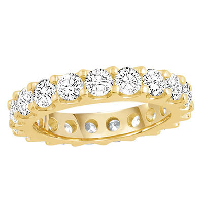 3.00 CT. TW. Round Cut Prong Set Eternity Band - 14K White or Yellow Gold