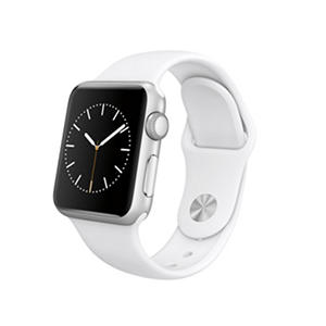 Apple Watch Sport - 38mm Silver Aluminum Case - White Sport Band