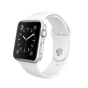 Apple Watch Sport - 42mm Silver Aluminum Case - White Sport Band