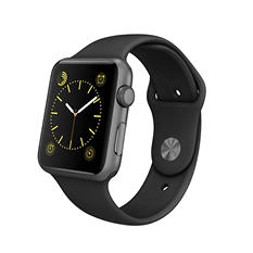 Apple Watch Sport - 42mm Space Gray Aluminum Case - Black Sport Band