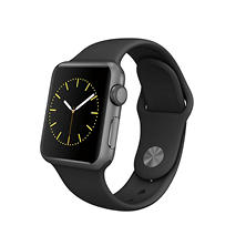 Apple Watch Sport Series 1- 38mm Space Gray Aluminum Case - Black Sport Band