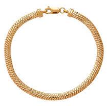 Click here for Italian 14K Yellow Gold Herringbone Link Bracelet prices