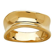 Click here for Italian 14K Yellow Gold Concave Ring 7 prices