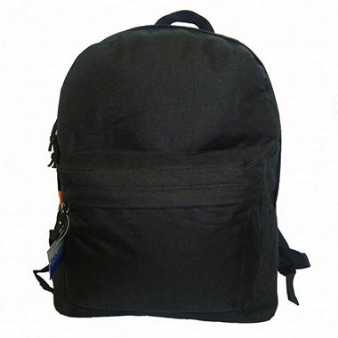"Bazic 18"" Backpacks - Black - 30 pk."