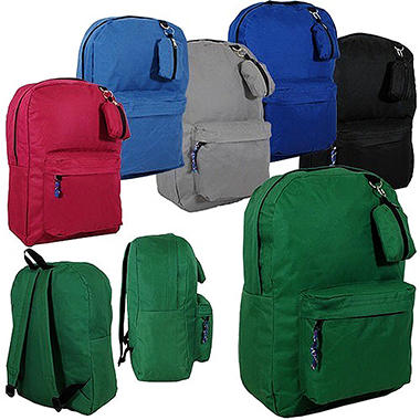 "Bazic 17"" Backpacks - Assorted Colors - 24 pk."