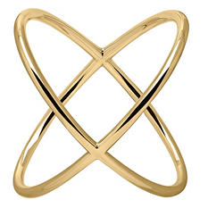 "14K Yellow Gold ""X"" Ring"