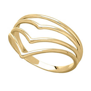 "14K Yellow Gold Layered ""V"" Ring"