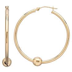 Royale Gold 14K Yellow Gold Hoop Earrings