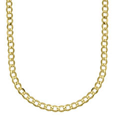 14K Yellow Gold Bevelled Curb 120 Chain - 22""