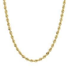 "14K Yellow Gold Glitter Ultimate 18"" Chain"