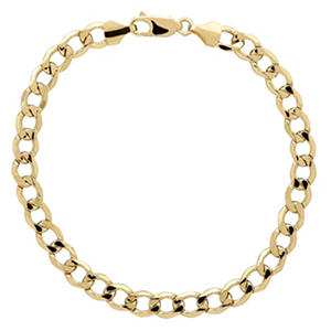 14K Yellow Gold Curb Bracelet - 9""