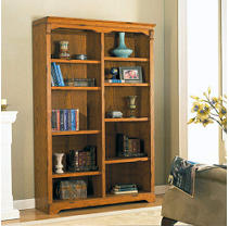 Furniture on Whalen Furniture Oxford Hill Oak Double Bookcase   Sam S Club
