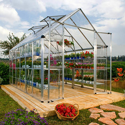 Palram Snap & Grow Silver Greenhouse - 8' × 12'