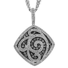 1 ct. t.w. Silvermist Diamond Square Pendant in Sterling Silver
