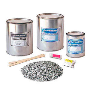 Supercoat Liquid Flooring Standard Kit with Glaze Coat - (Multiple Colors Available)
