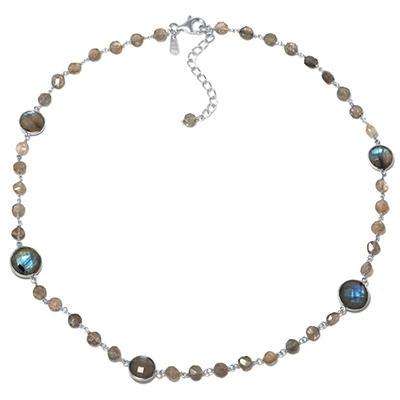 Amena K Sterling Silver Labordorite Necklace