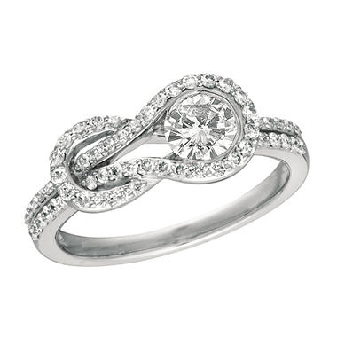 .50 ct. t.w. Everlon™ Diamond Pave Knot Ring (I, I1)