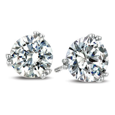 1.00 ct. t.w. Round-Cut Diamond Earrings in 18K White Gold (I, SI2)