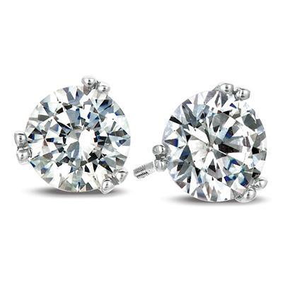 .35 ct. t.w. Round-Cut Diamond Earrings in 18K White Gold (I, SI2)