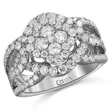 2.19 ct. t.w. Diamond Cluster Ring in 18k White Gold (G-H, SI)