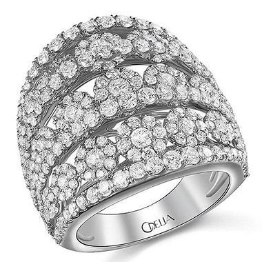 3.13 ct. t.w. Diamond Flower Cluster Ring in 18k White Gold (G-H, SI)