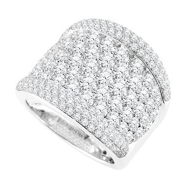 4.00 ct. t.w. Right Hand Ring in 18k White Gold (H-I, SI)