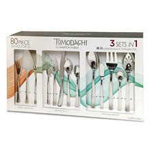Tomodachi Carolina 80-Piece Hammered Flatware Set