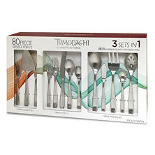 Tomodachi Molly 80-Piece Satin Flatware Set