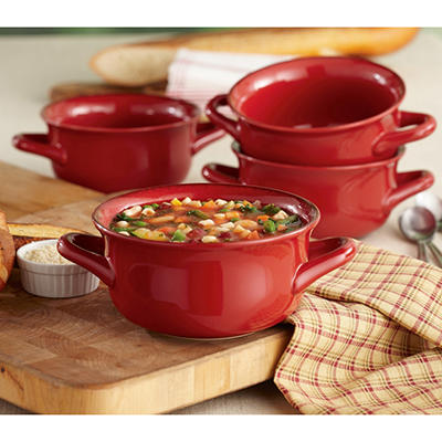 Daily Chef 4 Pack Fireside Soup Bowl - Various Colors