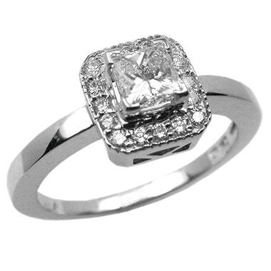 .65 ct. t.w. Princess-Cut Diamond Pave Ring (F, SI1)