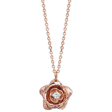 .11 ct. Diamond Rose Gold Pendant (G, SI2)