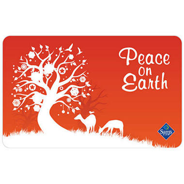 Peace on Earth Holiday Gift Card