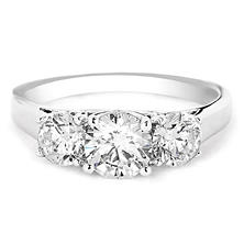 Premier Diamond Collection 1.72 CT. T.W. Triple Round Diamond Engagement Ring in 14K White Gold - IGI (H-I, I1)