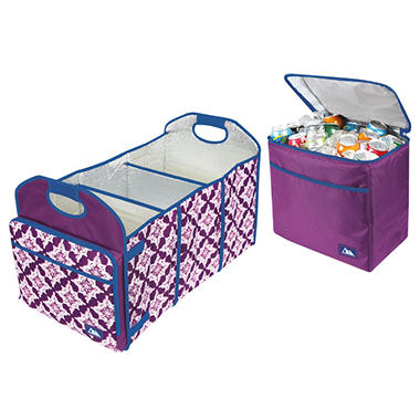 Arctic Zone Trunk Organizer And Insulated Cooler Set