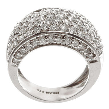 2.00 ct. t.w. Pave Diamond Domed Band in 14k White Gold (H-I, I1)
