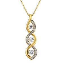 .75 CT. T.W. Diamond Necklace in 14K Yellow & White Gold
