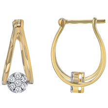 .25 CT. T.W. Diamond Earrings in 14K Yellow Gold