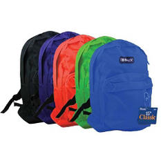 "Bazic 15"" Backpacks - 25 pk."