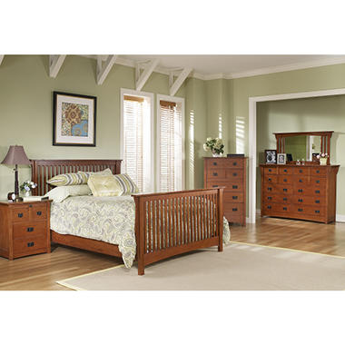 Mission Oak Bedroom Suite - Queen - 6 pc.