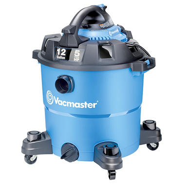 Vacmaster 12 Gallon/5 Peak HP Detachable Blower Wet/Dry Vacuum