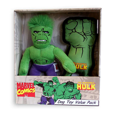 Marvel Dog Toys Value Pack - The Incredible Hulk - 2 pc.