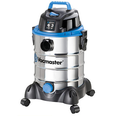 Vacmaster Stainless Steel Wet/Dry Vac - 3 Peak HP - 6 Gal