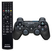 PS3 Dual Shock 3 Controller & Blu-ray Remote Bundle