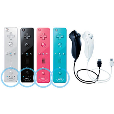 Wii Remote Plus and Nunchuck Bundle - Choose Color