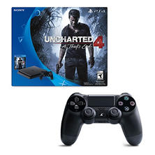 PS4 500GB Console and Dual Shock Controller Bundle